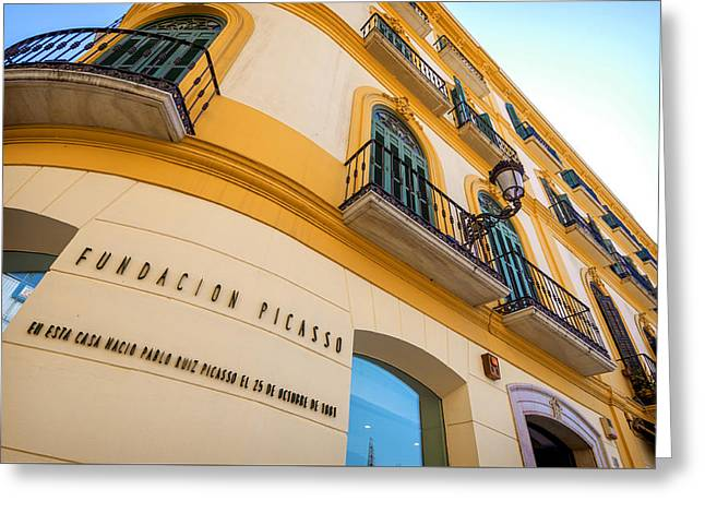 Malaga The Pablo Picasso Fundation Birthplace Museum Spain Greeting Card