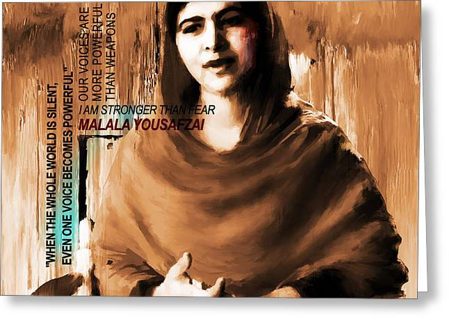 Malala Yousaf Zai 04 Greeting Card by Gull G
