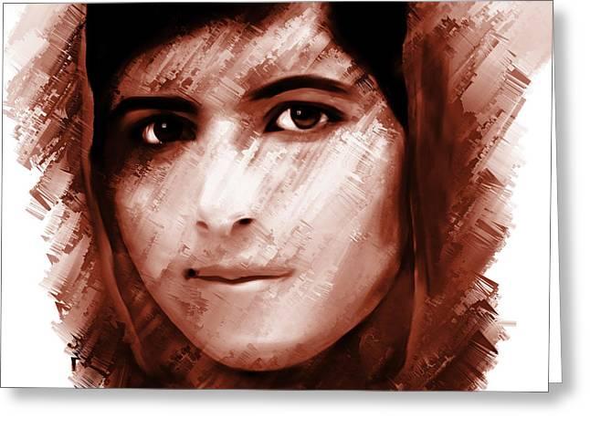 Malala Yousaf Zai 16 Greeting Card by Gull G