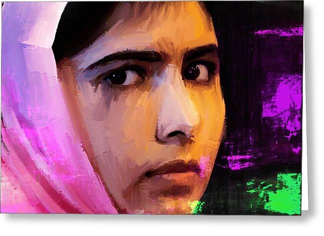 Malala Yousaf Zai 18 Greeting Card by Gull G