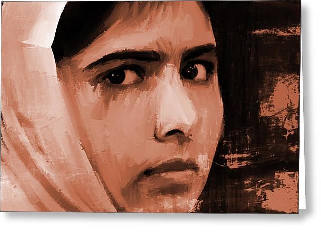 Malala Yousaf Zai 20 Greeting Card by Gull G
