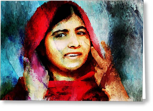 Malala Yousaf Zai 21 Greeting Card by Gull G