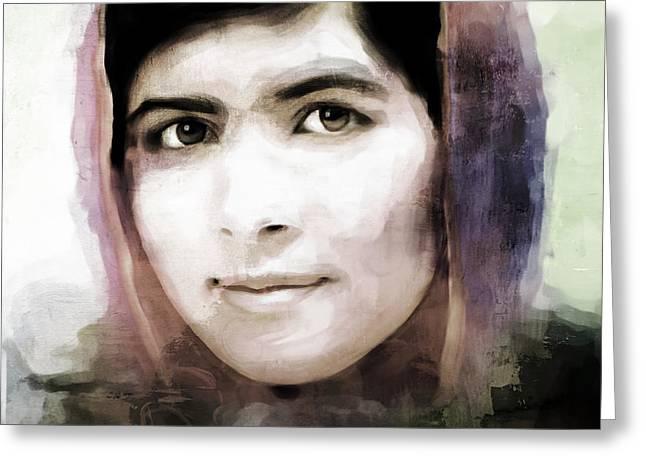 Malala Yousaf Zai 24 Greeting Card by Gull G