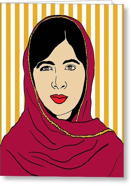 Malala Yousafzai Greeting Card by Nicole Wilson