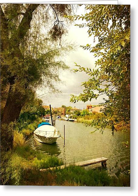 Greeting Card featuring the photograph Malamocco Canal No1 by Anne Kotan