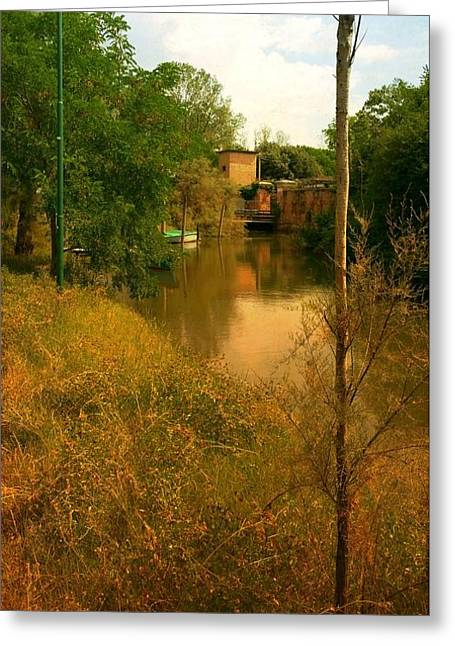 Greeting Card featuring the photograph Malamocco Canal No2 by Anne Kotan