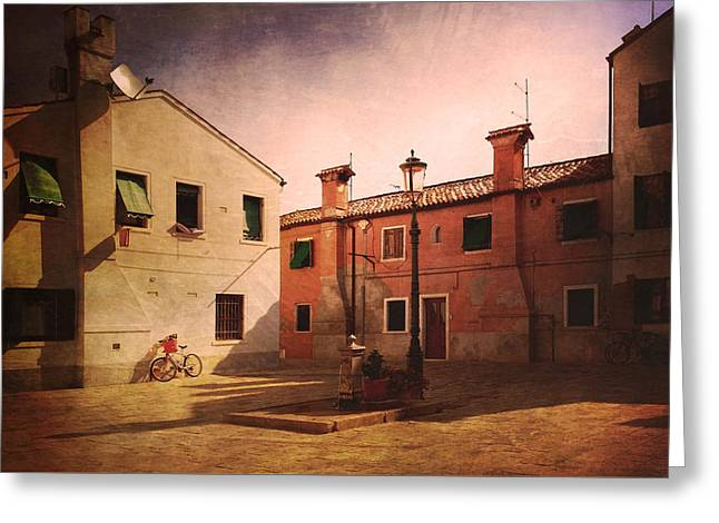 Greeting Card featuring the photograph Malamocco Corner No2 by Anne Kotan