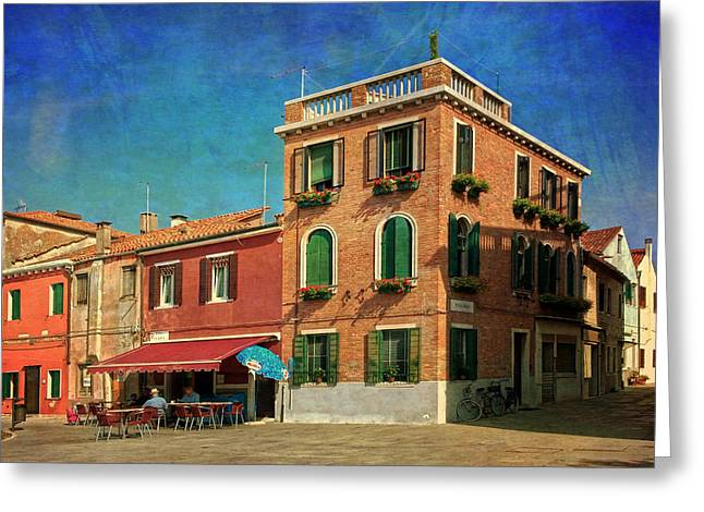 Greeting Card featuring the photograph Malamocco Corner No3 by Anne Kotan