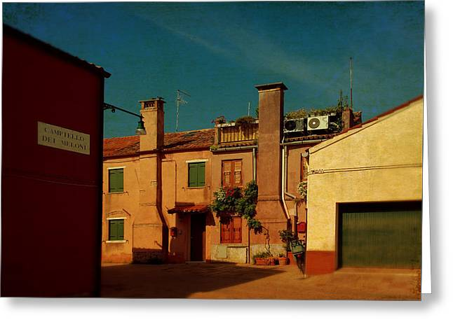 Greeting Card featuring the photograph Malamocco House No2 by Anne Kotan