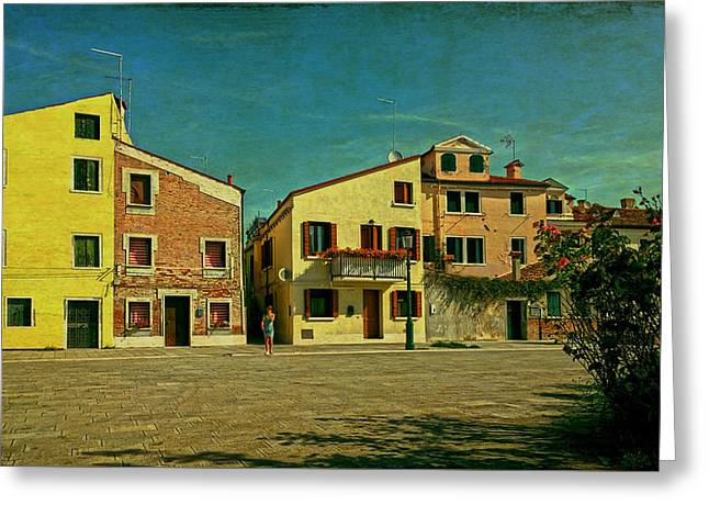 Greeting Card featuring the photograph Malamocco Main Street No1 by Anne Kotan