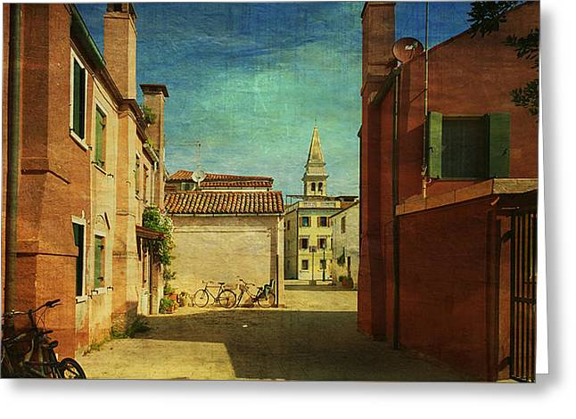 Malamocco Perspective No3 Greeting Card by Anne Kotan