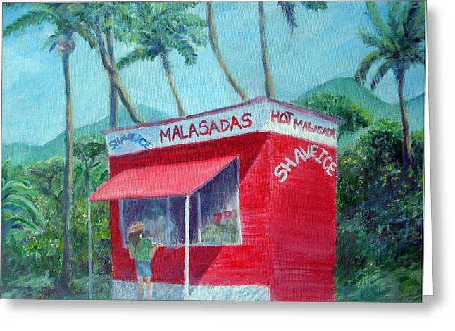 Malasada Stand Greeting Card by Mike Segura