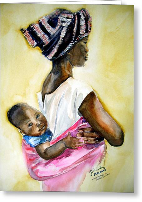 Malawian Mother Greeting Card by Shirley Roma Charlton