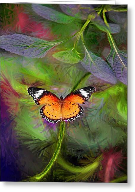 Greeting Card featuring the digital art Malay Lacewing  What A Great Place by James Steele