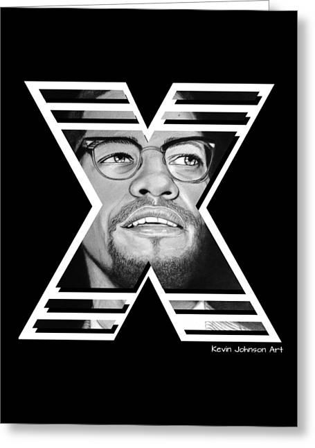 Malcolm X - Custom Graphic Design Greeting Card