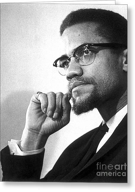 Malcolm X (1925-1965) Greeting Card