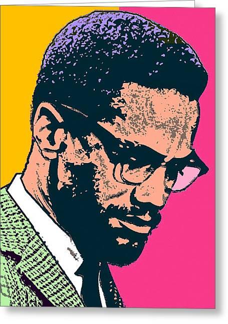 Malcolm X 2 Alt Greeting Card by Otis Porritt