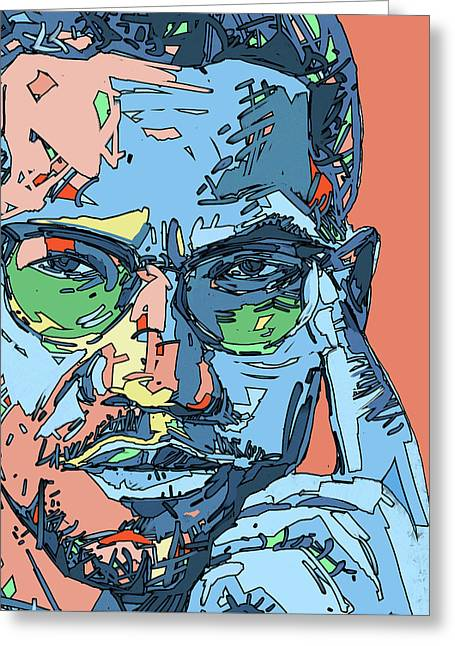 Malcolm X Color Greeting Card