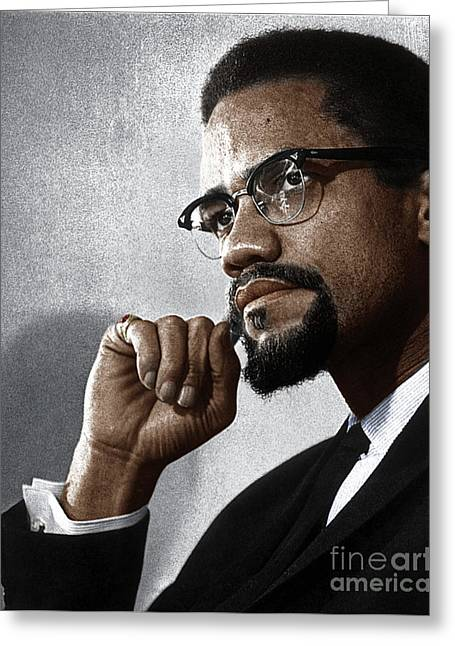 Malcolm X Greeting Card by Granger