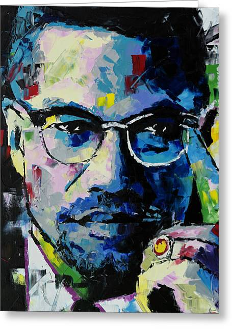 Malcolm X Greeting Card by Richard Day