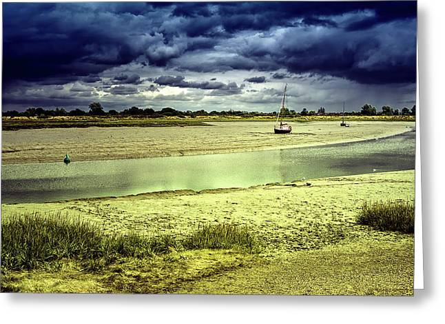 Maldon Estuary Towards The Sea Greeting Card