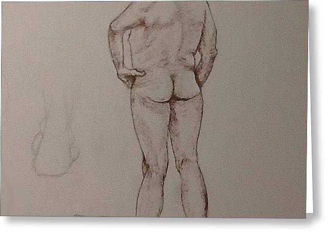 Male Life Drawing Greeting Card