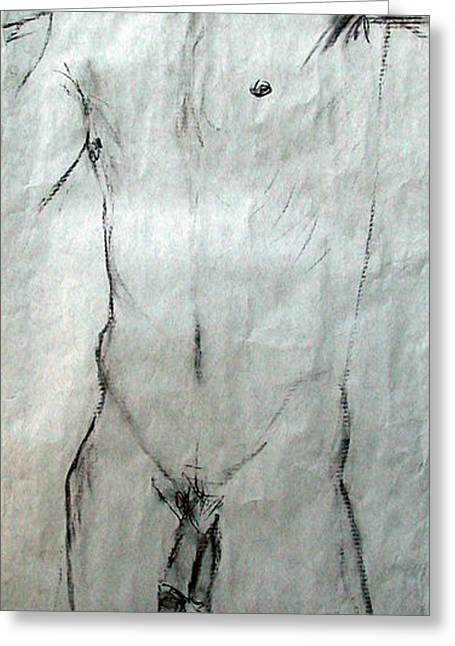 Male Nude 4798 Greeting Card by Elizabeth Parashis