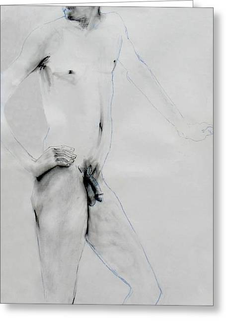 Male Nude 4803 Greeting Card by Elizabeth Parashis