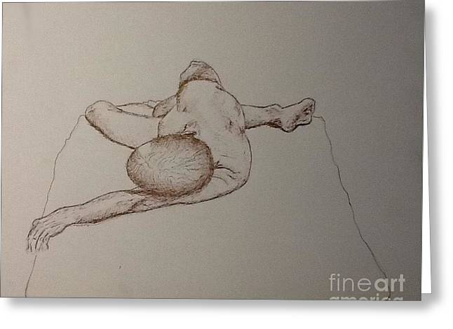 Male Nude Life Drawing Greeting Card