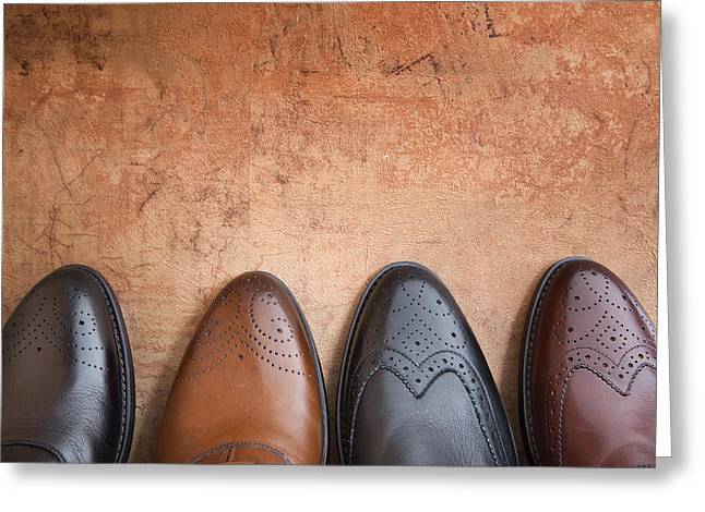 Greeting Card featuring the photograph Male Shoes by Andrey  Godyaykin