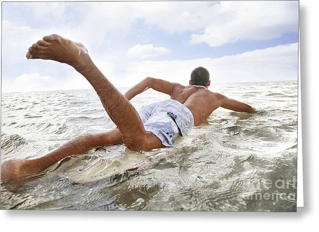 Male Surfer Greeting Card