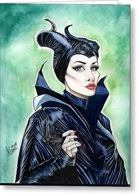 Maleficent Greeting Card by Jimmy Adams