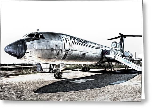 Malev Airlines Tupolev Tu-154 Art Greeting Card