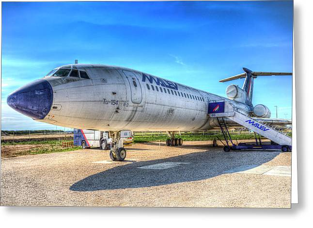 Malev Airlines Tupolev Tu-154 Greeting Card