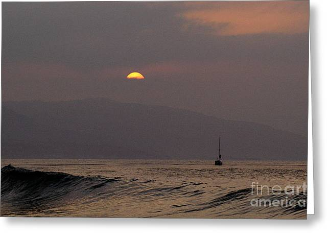 Malibu Sunrise Greeting Card by Marc Bittan