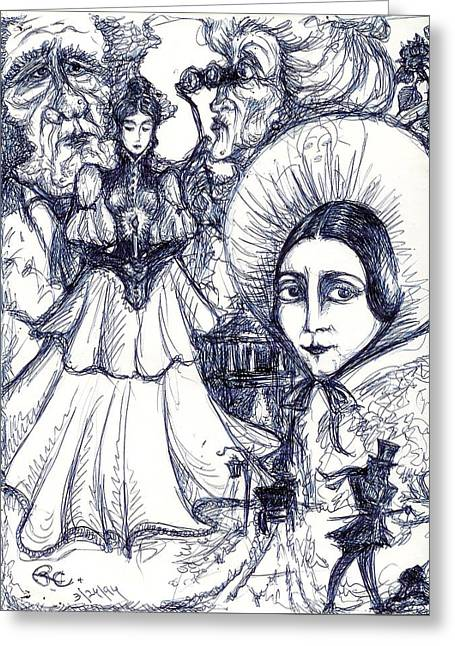 Malice Greeting Card by Rae Chichilnitsky