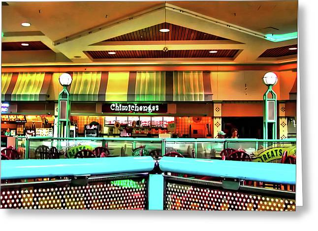 Mall Scape Greeting Card by Francesco Roncone