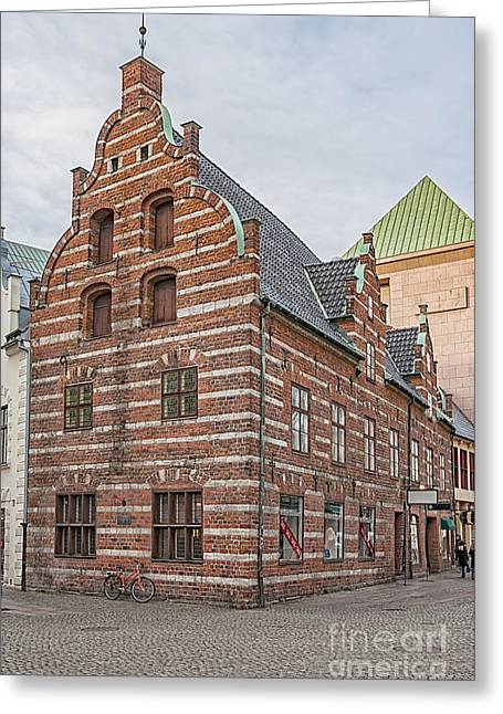 Malmo Old Town House Greeting Card by Antony McAulay