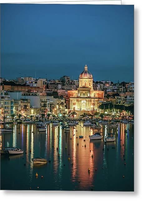 Malta Blue 6 Greeting Card