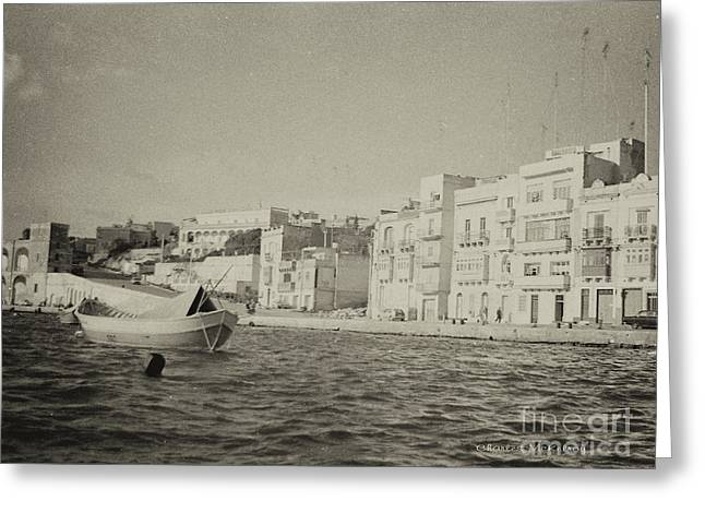 Greeting Card featuring the photograph Maltese Boat by Charles McKelroy