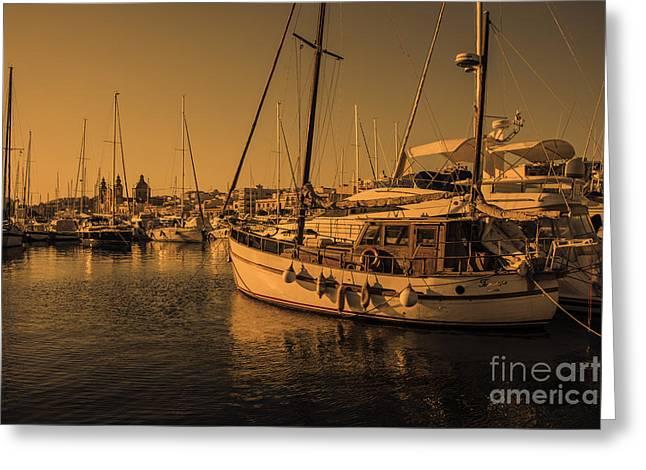 Maltese Boats  Greeting Card by Rob Hawkins