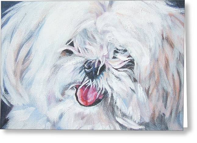 Maltese Greeting Card by Lee Ann Shepard