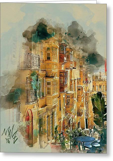 Maltese Street Greeting Card