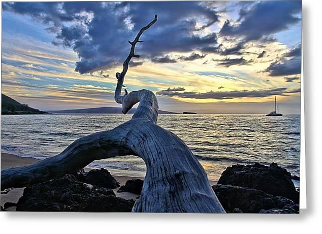 Maluaka Beach Sunset Greeting Card