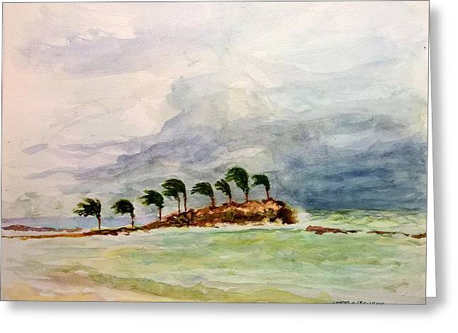 Greeting Card featuring the painting Malya Jamaica by Nicolas Bouteneff