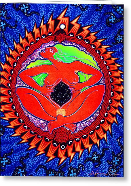 Mama Cosmos Greeting Card by Angela Treat Lyon