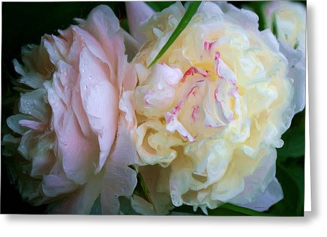 Mama's Blushing Peonies Greeting Card