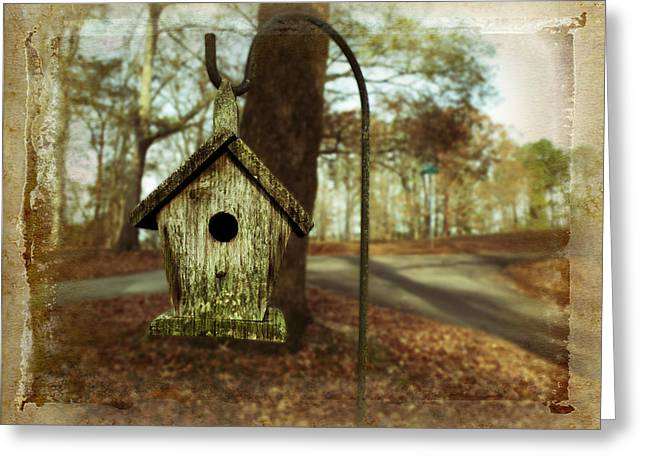 Fallen Leaf Greeting Cards - Mamaws Birdhouse Greeting Card by Steven  Michael