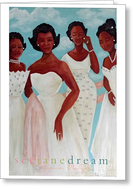 Mamie's Tea Glamour Greeting Card by Janie McGee