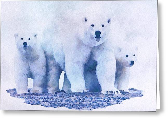 Greeting Card featuring the painting Mamma Bear  by Mark Taylor